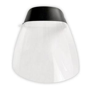 Protector facial transparente glasspack 400 mc cinta ajustable evita vaho medidas 235×330 mm transp.
