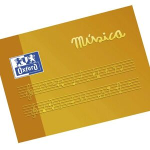 OXFORD Bloc Musica A5 Apaisado 10 hojas 4 mm pentagrama