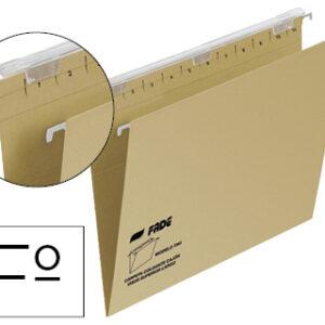 FADE Caja 25 uds. Carpeta colgante tiki folio prolongado visor superior 290 mm 230 g/m lomo v