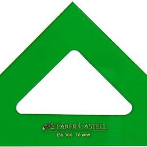FABER-CASTELL Escuadra Serie tecnica Verde 16 cm