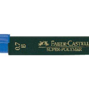 FABER CASTELL Mina Super Polymer 12 ud Trazo 0.5 mm 2H