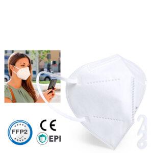 Mascarilla de proteccion respiratoria homologada FFP2 filtración 95% blanca