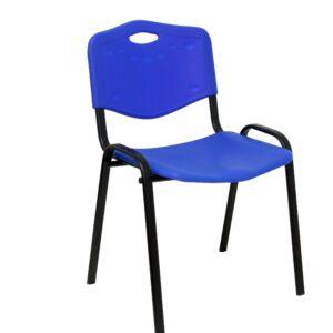 PYC Pack 4 Sillas confidentes Robledo plástico Azul