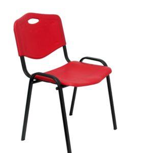 PYC Pack 4 Sillas confidentes Robledo plástico Rojo