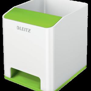 LEITZ Cubilete portalápices Sound Wow Dual Verde/Blanco