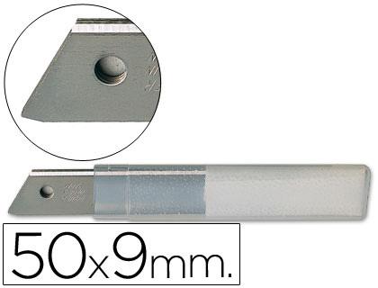 Q-CONNECT Repuesto cuter estrecho metalico 0,5×9 mm blister de 10 cuchillas.