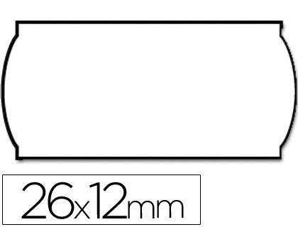 METO ROLLO ETIQUETAS METO ONDULADAS 26×12 mm BLANCA