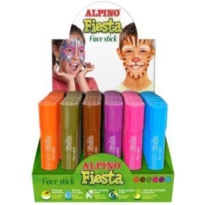 ALPINO Expositor Maquillaje FACESTICK FANTASIA 36 ud Sistema retráctil