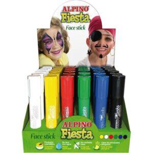 ALPINO Expositor Maquillaje FACESTICK 36 ud Sistema retráctil